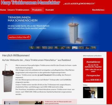 trinkbrunnen aus naturstein f r privaten u ffentlichen bereich harp haustechnik. Black Bedroom Furniture Sets. Home Design Ideas