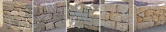 Mauersteine und Bruchstein aus Naturstein
