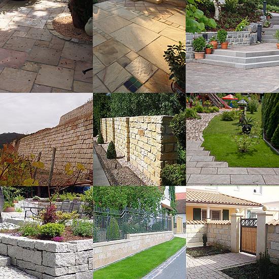 Mauersteine - Bodenplatten aus Naturstein